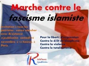 Marche contre le fascisme islamiste le 10 novembre à Paris